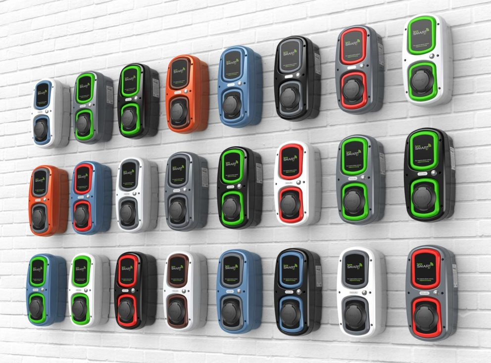 WallPod EV Charging Point HomeSmart colour options
