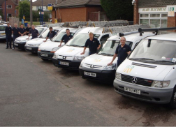 Our team and fleet of vans